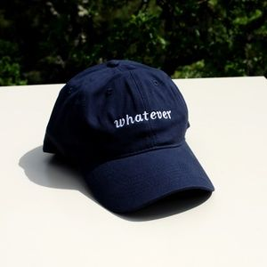 Whatever Baseball Cap Blue Unisex NWOT